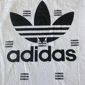 Adidas White 3 Stripe Shirt- LIMITED EDITON Large